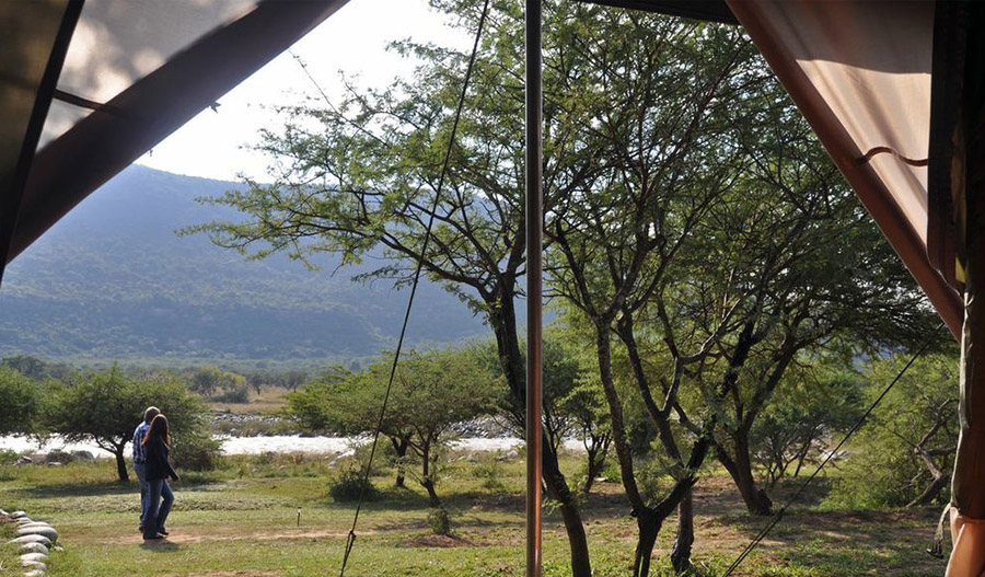 The Tugela seen from Zingela Tent site