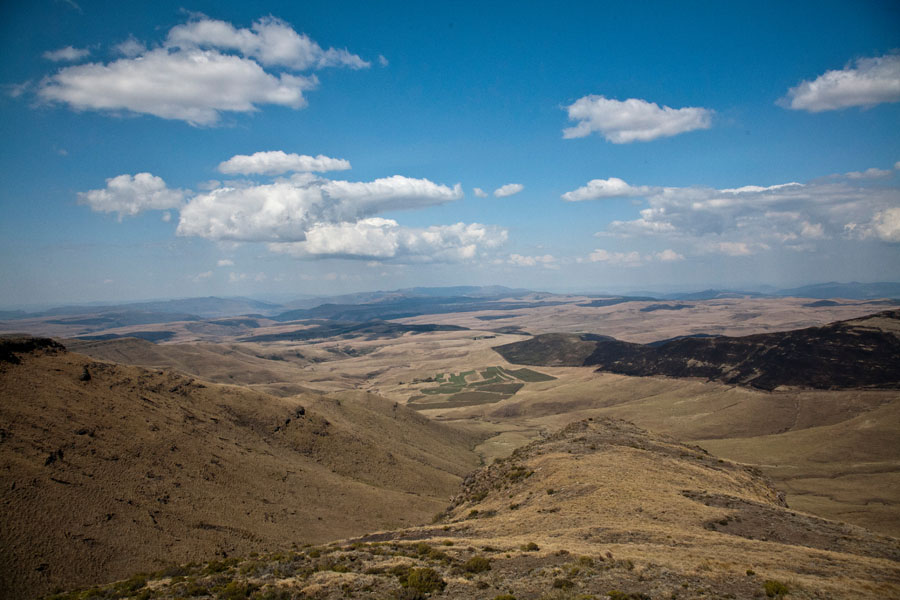 View from summit of Naudes Nek Pass