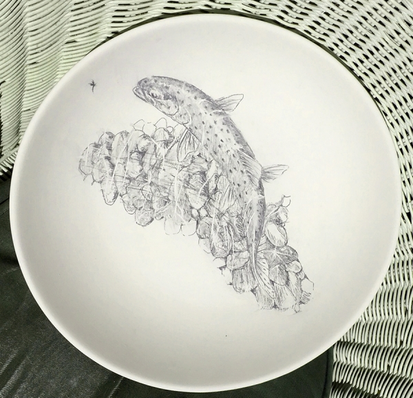 Rising trout salad bowl - available