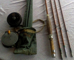 JJS WALKER BAMPTON ROD AND HARDY AND CONDEX REEL FOR SALE.