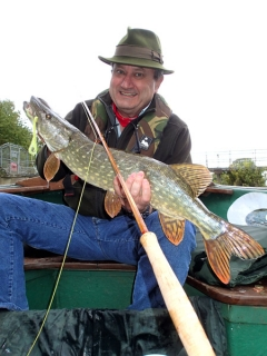 Pike from the Thames on a Walt Dietrich bamboo fly rod. Pictures and words from Clem Booth
